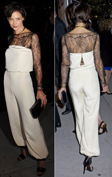 katie-holmes-white-jumpsuit-all-my-sons-premiere