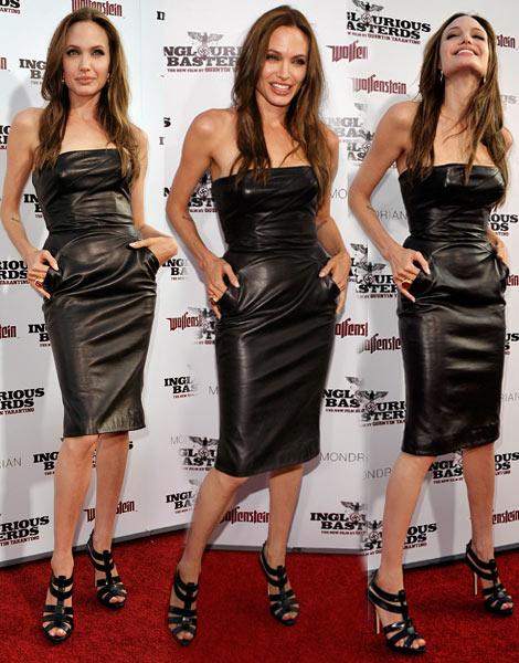 angelina-jolie-michael-kors-black-leather-dress