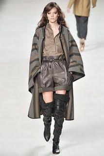 Chloe leather shorts