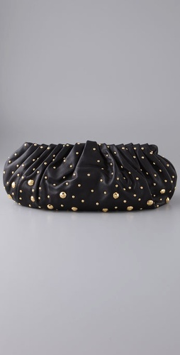 diane von furstenberg belle clutch with studs