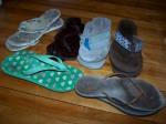 flip flops of various brands