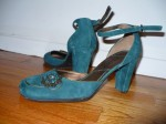 Aldo: Teal suede with jewelled embellishment. Just really terrific-looking.
