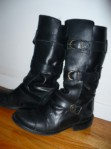 Steve Madden (Biscuit): Badass motorcycle boots to frighten civil servants. Can walk for hours in them, too.