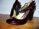 Halé Bob (Winners): Black cherry coloured with a cool-looking heel. I got them for $30 at Winners and checked online afterwards. They were still $200 at Nordstorm.