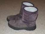Wal-mart - My actual winter boots. Note salt line from last winter. Comfortable, warm, walkable-in and cheap.