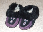 Weaver and Devore Trading LTD, Yellowknife - Not sure if these should really count as a shoe, but I have worn them outside. They came from a camping outfitters in the North and are so cozy. Although the rabbit fur has led to cats carrying them around the house and making it hard to find the pair.