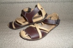 Bernie Mev - I bought these sandals in California with my friend Ivy. I love the way they look from the front, but am not crazy about the way they look from the side. I wear them in the summer cause they're super comfy but am still unsure of them! Weird non?