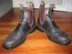 """Chisel-toed Blundstones - These are obviously well-loved. My favourite part: they're """"stout brown"""" (like Guinness) so they seem to work with brown or black pants."""