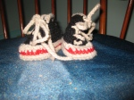 Why yes, these are crocheted Chuck Taylors