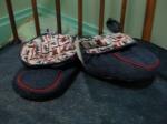 Denim slippers