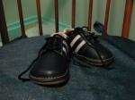 Squeaky heeled striped dress shoe - Calgary Chinatown