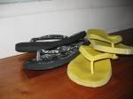 Flip flops - Yellow ones are Joe Fresh, Black ones I got from my sister.