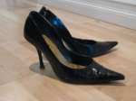 Patent leather pumps-Winners - These are my go-to shoes for work or pretty much any occasion. I've spent more repairing them than on the actual shoes. I don't care. I love them. They go with everything.