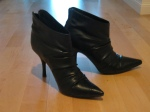 Black leather booties-Spring (gift) - Another Christmas gift from hubsters. These guys are wicked comfy and cute with pants or skirts.