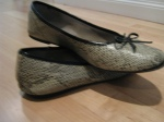 Snakeskin-ish print flats-Payless -  These got wet and now they smell super funky after more than 10 minutes of wear. And yet I don't throw them out.