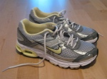 Nike+ runners (Cleves) -  Just got these babies on the weekend after I blew a hole in my old pair. They sync up with my iPod and tell me how long each of my runs is, my pace, calories burn, etc. MAGIC SHOES!!