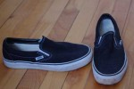 Vans, ebay - I have a mild obsession with slip on Vans. Super comfortable, basic black sneakers.