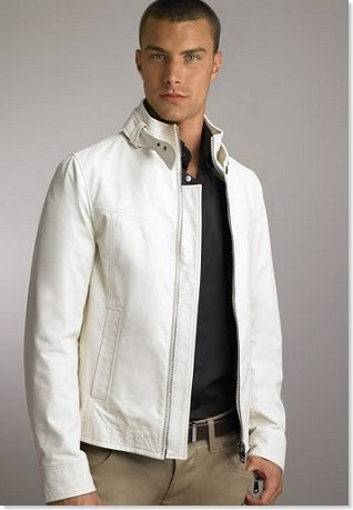 dolce gabbana white leather jacket
