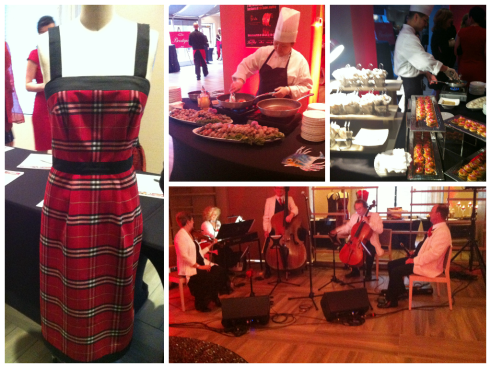 A Veronica MacIsaac dress I drooled over a little at the silent auction; food and music.