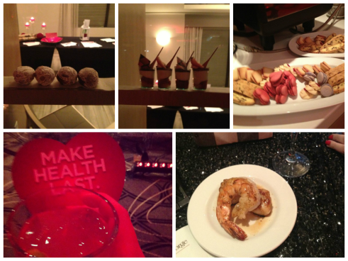 Tiny desserts, sponsored cocktails and delicious, giant shrimp.