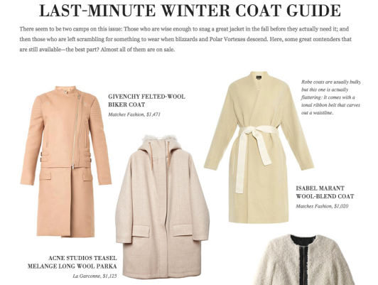 GOOP Guide to coats